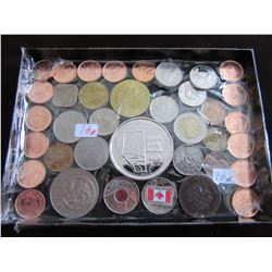 TRAY OF CANADA & WORLD COLLECTIBLE COINS