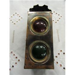 METAL RAILWAY CONTROL LIGHT CANDLE HOLDER