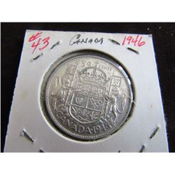 1946 CANADA SILVER HALF DOLLAR