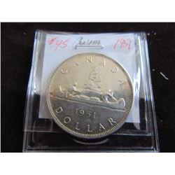 1951 KING GEORGE VI CANADA SILVER DOLLAR