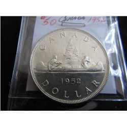 1952 CANADA KING GEORGE VI SILVER DOLLAR