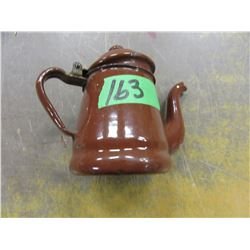 MINIATURE ENAMEL COFFEE POT (BROWN)
