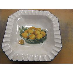 LARGE SERVING BOWL WITH PEAR PICTURE (MADE IN ITALY)