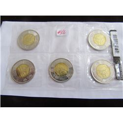 2012 MINT SEALED TOONIE HMS SHANNON COIN SET (5 PIECES)