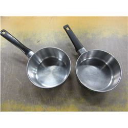 2 STAINLESS STEEL SAUCE POTS