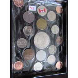 TRAY OF CANADA, US & WORLD COLLECTIBLE COINS