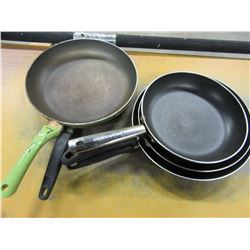5 ASSORTED FRYING PANS