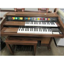 ELECTRIC ORGAN & STOOL