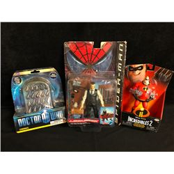 TOY FIGURES LOT (DR. WHO, INCREDIBLES 2...)