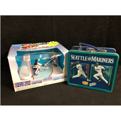 STARTING LINE-UP HOCKEY FIGURES/ SEATTLE MARINERS LUNCH BOX