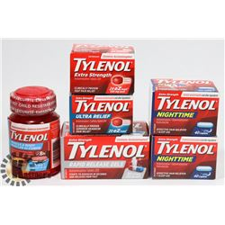 LOT OF ASSORTED SEALED TYLENOL.