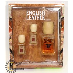 MEN'S ENGLISH LEATHER 3 PIECE GIFT SET BY DONA