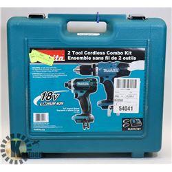 MAKITA DLX21415V IMPACT DRILL COMBO.