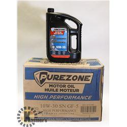 CASE OF 4 PURE ZONE 10W30 DIESEL OIL 4.73 EACH.