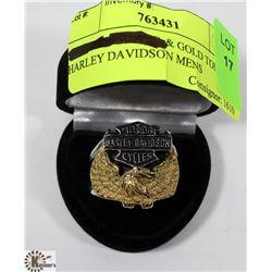 SILVER TONED & GOLD TONED HARLEY DAVIDSON MENS