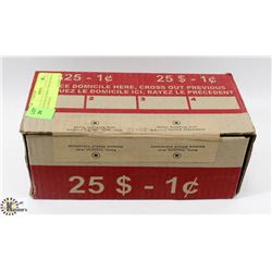 RCM SEALED BOX OF SEALED ROLLS OF PENNIES