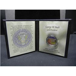 2001 George Washington Commemorative Silver Eagle. With presenation package