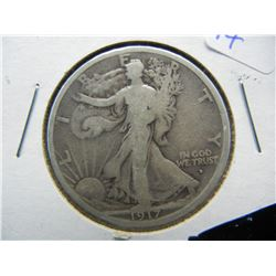 1917 D Obv Walking Liberty Half Dollar.
