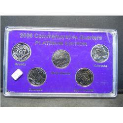 2006  Platinum Quarter set. Limited Edition