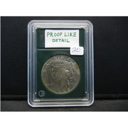 1928 P Peace Dollar. Slabbed