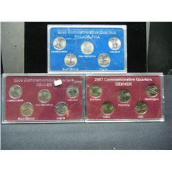 3 Quarter sets 2000 PD, 2000 D