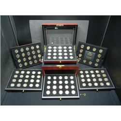 FULL 1999-2009 Quarter set Gold Edition with quality wood case