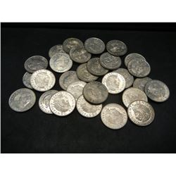 Lot of (28) Mexican coins