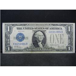 1928 B One Dollar Silver Certificate Funnyback