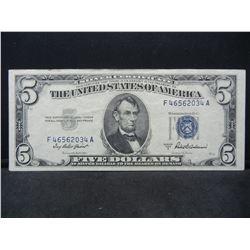 1953 A $5 Silver Certificate
