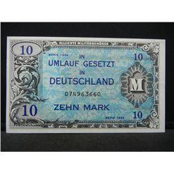 1944 Germany (occupied) 10 Mark.