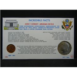 Incredible facts facts of JFk/ Lincoln. (2) Coins