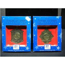 2 State Christmas Quarters Ornaments