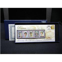 Princess Diana Stamp set. # 176 of 25,000