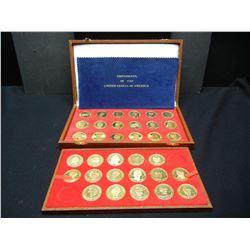Prooflike Golden Presidential medal set, Missing 13 and 14