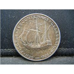 1920 PILGRIM Half Dollar. AU58