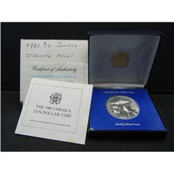 Jamaica $10 Strerling Proof coin. Dollar size