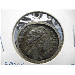 Ancient Roman Coin in bezel