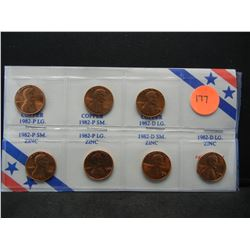 (7) types of 1982 Lincoln Cents
