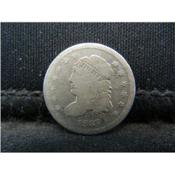 1837 Capped Bust Half Dime.