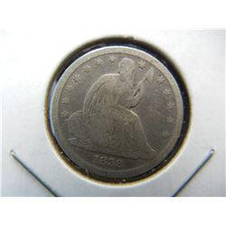 1838 Seated Dime
