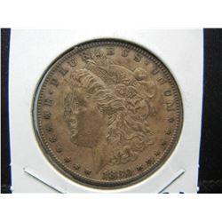 1880 S Morgan Dollar. AU