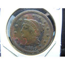 1846 Large Cent.