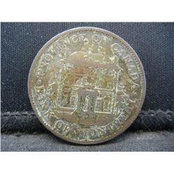 1844 Montreal Half Penny