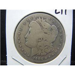 1904 S Morgan Dollar key date.