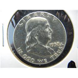 1958 HYPERGRADE Franklin Half. No Mint mark