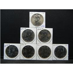 2009-2012 Kennedy BU Half collection, 09D, 10PD, 11PD, 12PD