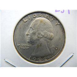 1982-D Washington Unicrulated Key date Quarter