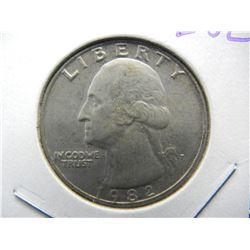 1982-P Washington  KEY DATE Quarter