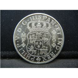 1743 8 Reales restrike