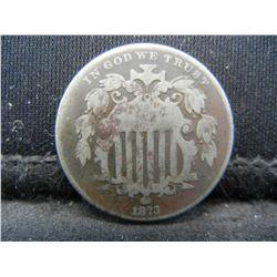 1873 Key date Shield Nickel